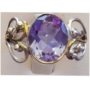 5ct Color Changing Alexandrite Ring Size 9